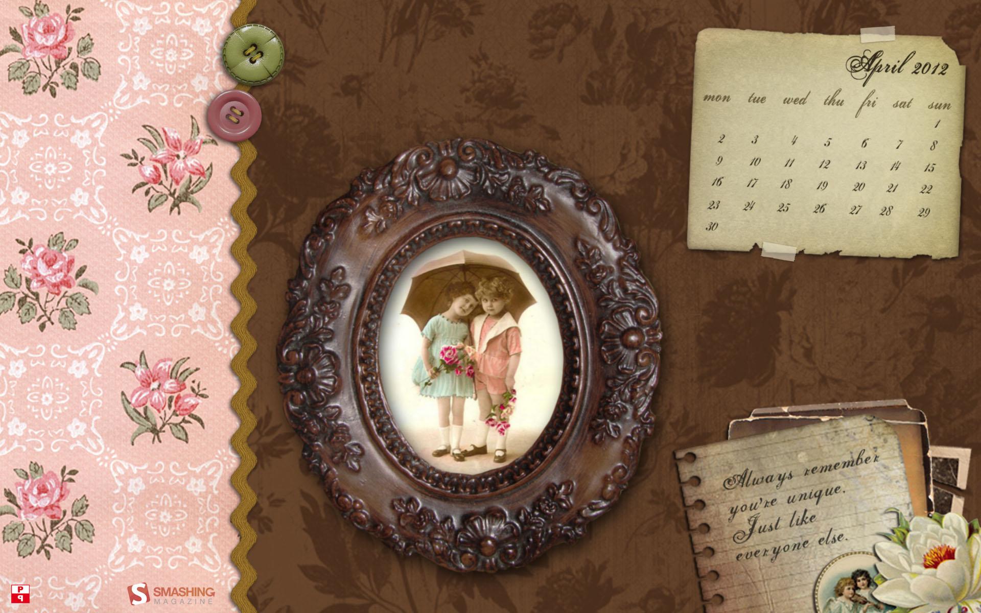 обои календарь 2012: