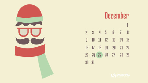 Christmas Desktop Wallpaper: Frozen Mustache