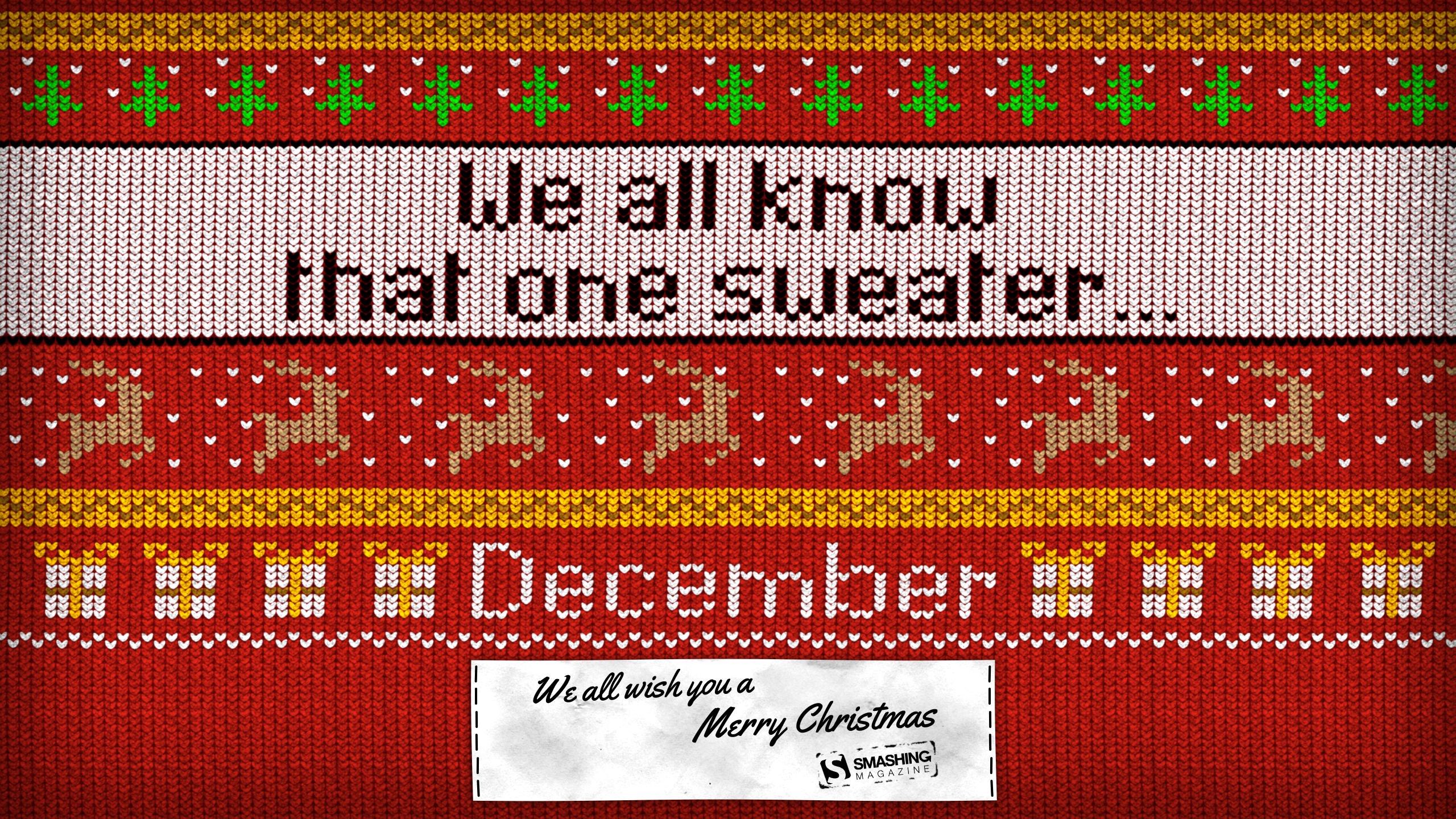 merry december - Christmas Sweater Wallpaper