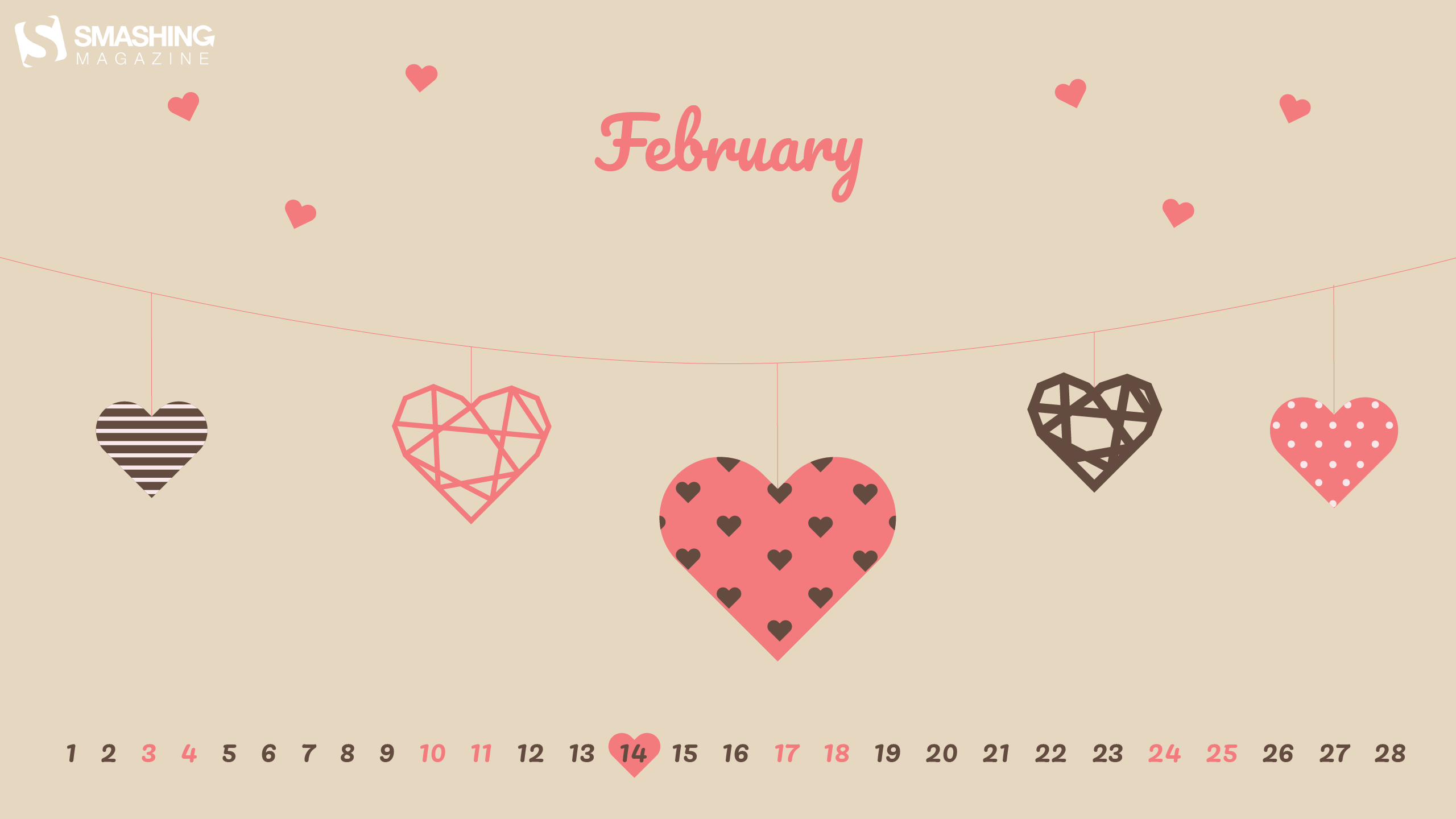 Top Wallpaper Marble Heart - feb-18-february-love-cal-2560x1440  Pictures_571110.png