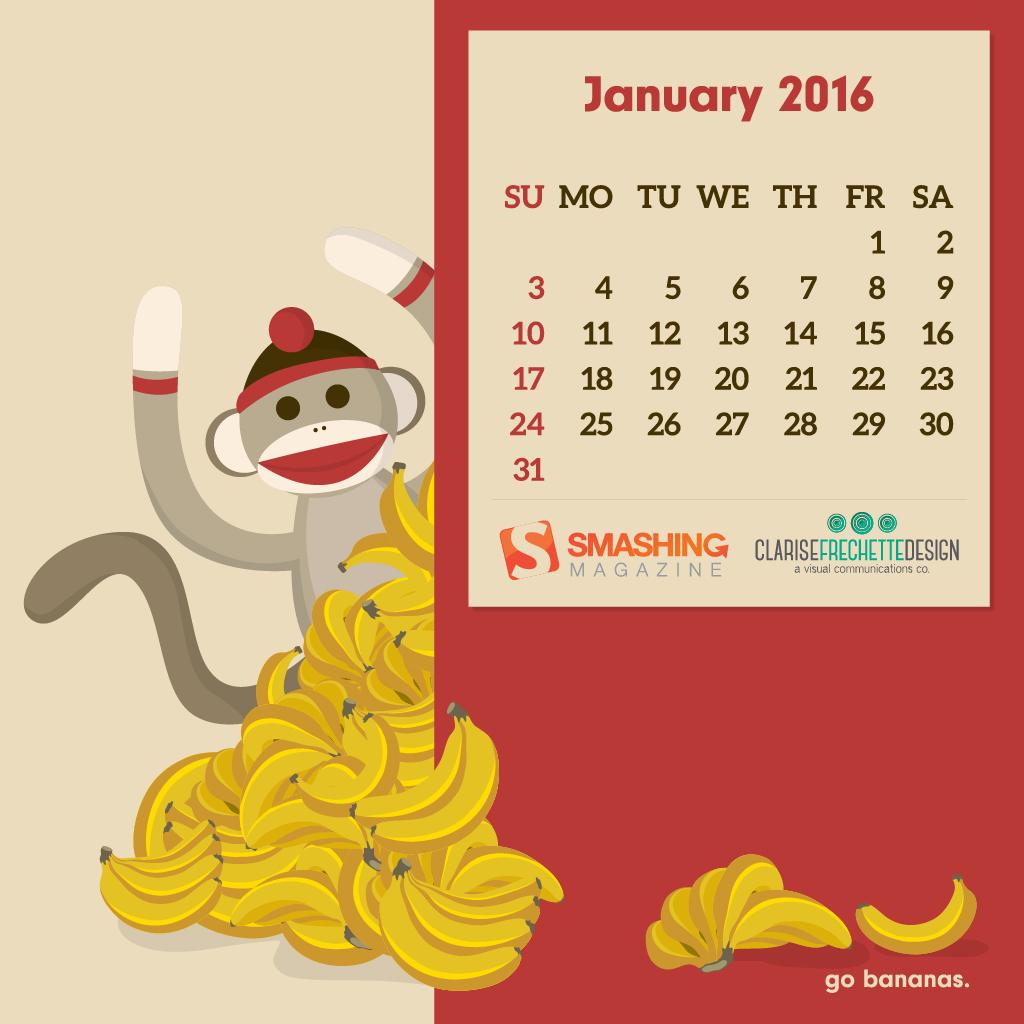 Desktop Calendar Wallpaper Creator : Desktop wallpaper calendars: january 2016 u2014 smashing magazine