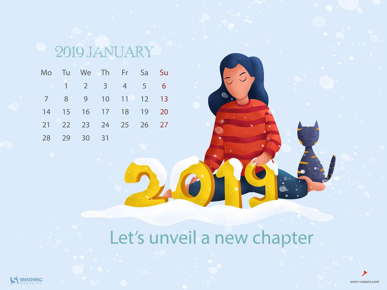New Year New Beginnings January 2019 Wallpapers Edition