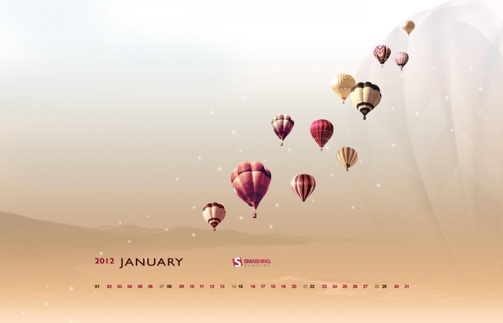 Fondos de escritorio con y sin calendario para enero 2012