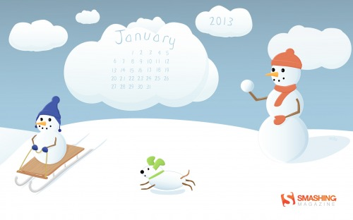 Smashing Desktop Wallpaper — January 2013