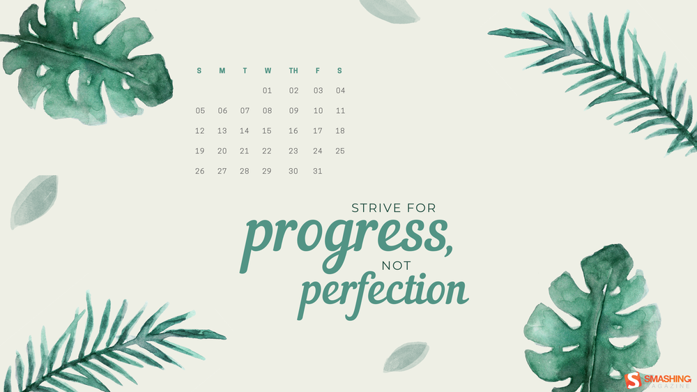 july 20 strive for progress not perfection full.png? ga=2.113202756.1572909704.1593750104 1510135716 - Download Smashing Magazine Desktop Wallpaper July 2020 Windows 10 Theme