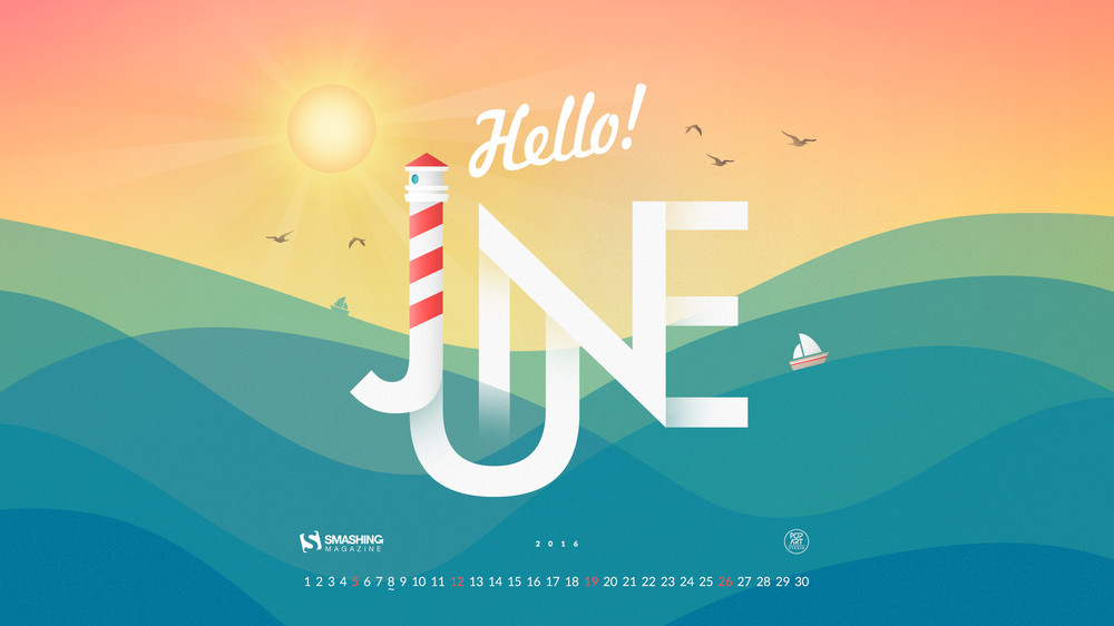 Simple Desktop Calendar June 2016 A To Decorating