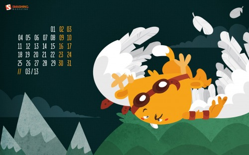 Desktop Wallpaper Calendar: March 2013