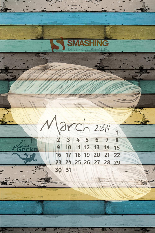 31 Stunning Spring Desktop Wallpaper Calendars: March 2014
