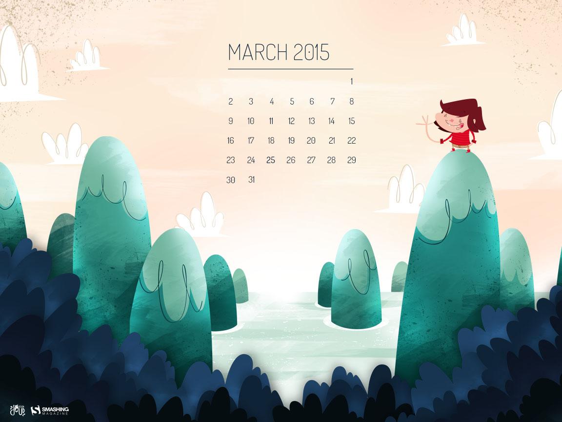 Desktop Wallpaper Calendars: March 2015