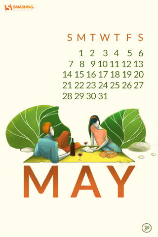 All Is Possible In May Preview With Calendar 320x480