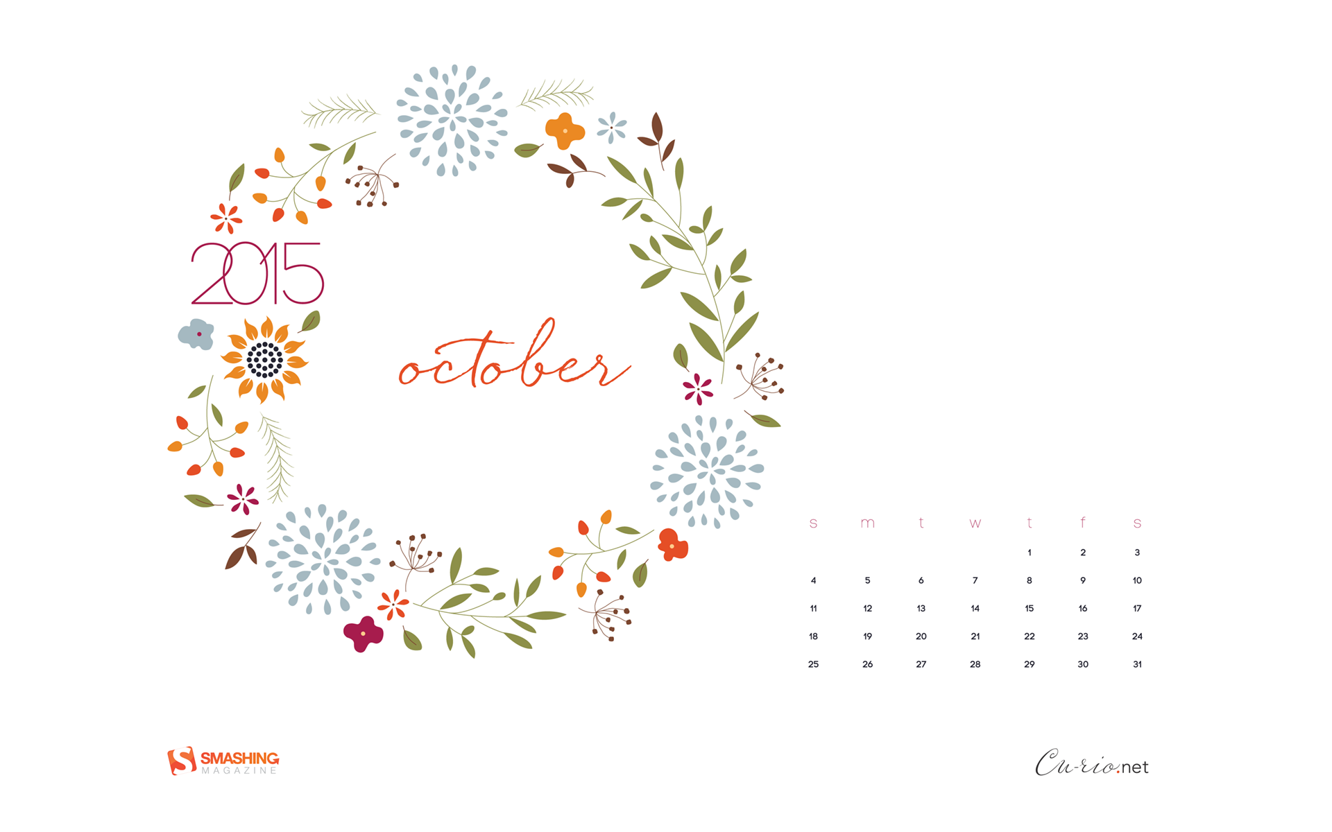 Desktop Wallpaper Calendars: October