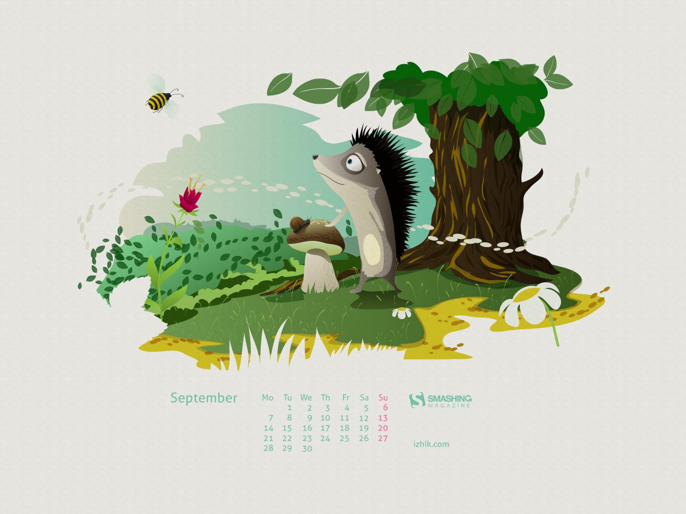 Calendar Wallpaper Smashing Magazine : Desktop wallpaper calendars september — smashing