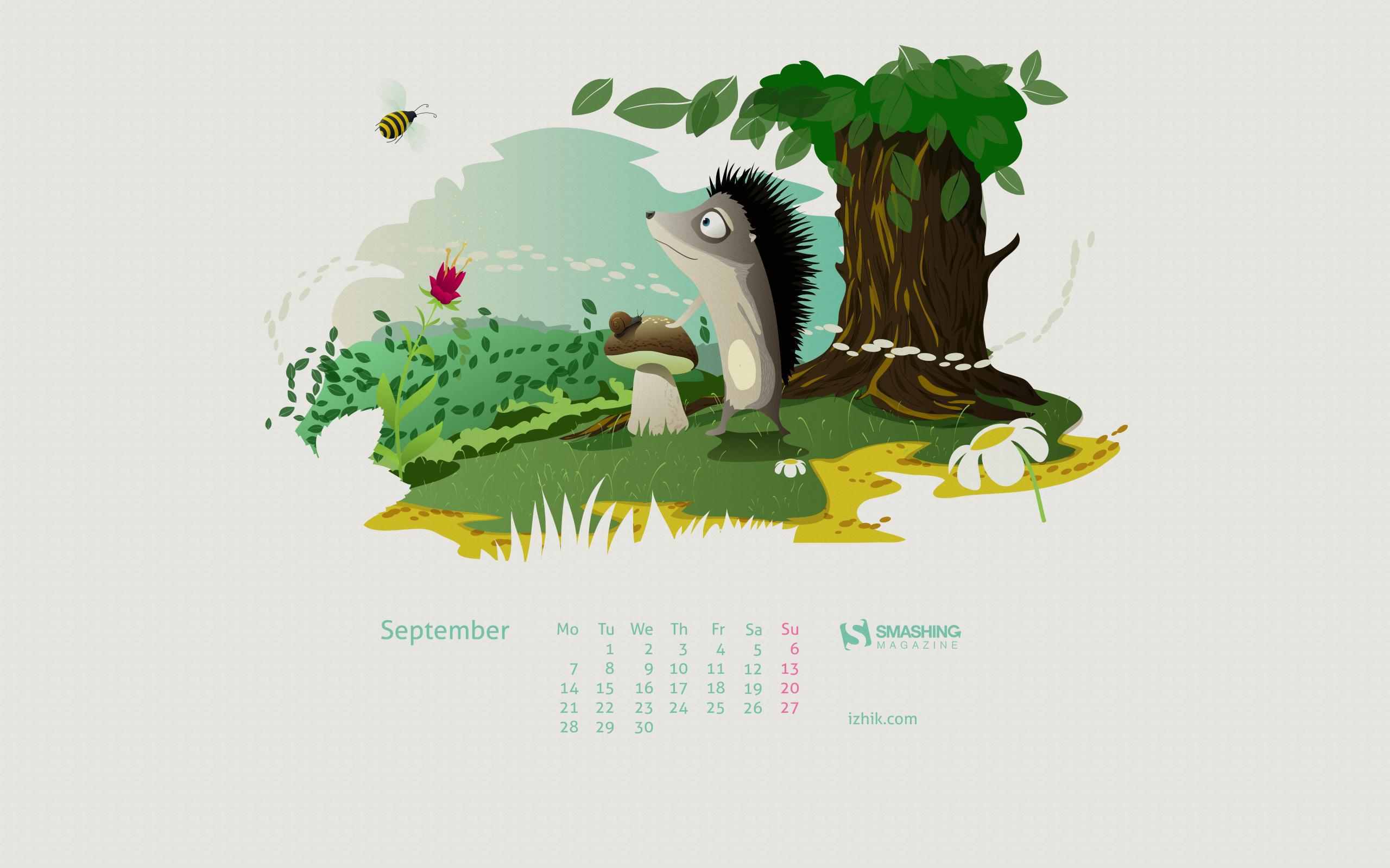 Calendar Wallpaper Quilling : Desktop wallpaper calendars september — smashing