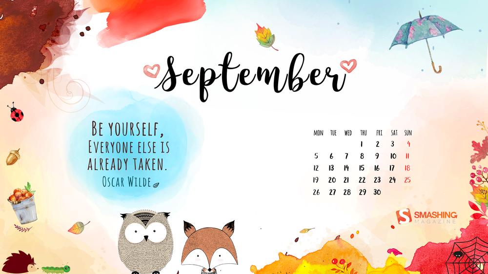 Calendar Theme Wallpaper : Desktop wallpaper calendars september — smashing